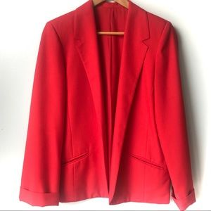 Allure Open Front Blazer Red Size Small